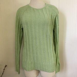 Vintage 90s Green Carolyn Taylor Acrylic Sweater